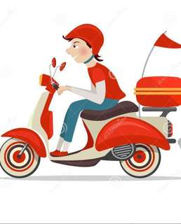 Delivery riders with own motorbike