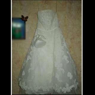 David's Bridal Tea Length Wedding Dress FOR SALE/RENT