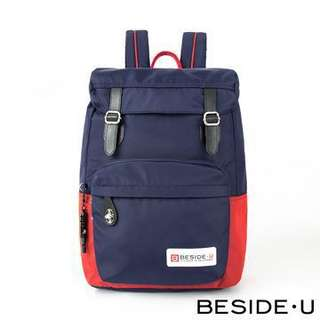 Beside U Halcyon Series Backpack with RFID guarded pocket