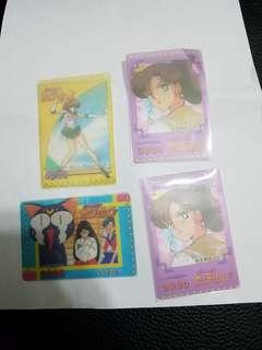 美少女戰士卡咭  sailormoon 透明咭 膠卡