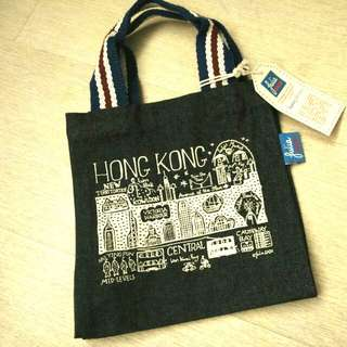 英國名設計師Julia Gash Tote Bag 牛仔布手挽袋