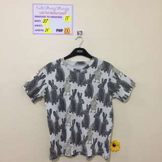 Bunnies and Chicks Print Top