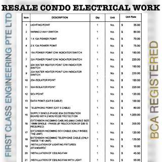 ELECTRICAL WORKS ISLANDWIDE LOWEST PRICE