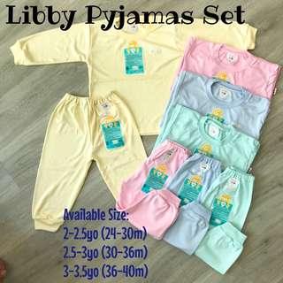 2 3 4 years Toddler Libby long sleeve pants pyjamas