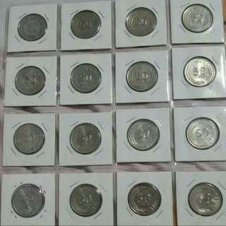 Whole Set of 1967-1985 50cents Old Coins