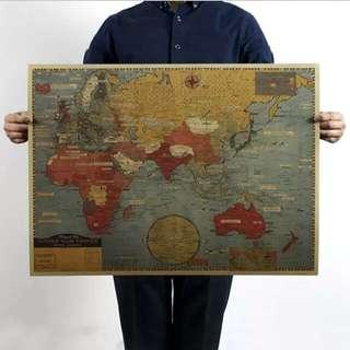 世界戰爭復古地圖