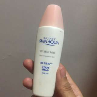 Skin Aqua UV Mild Milk SPF 25 PA++ For Dry Sensitive Skin