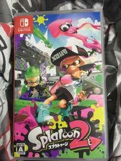 Switch 二手 日版 splatoon 2