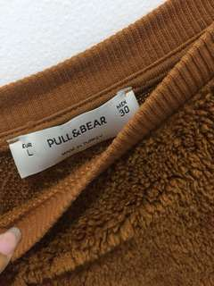 Pull and Bear Fur Sweater Mustard