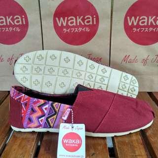 Sepatu Wakai Maroon Tribol Grade Original
