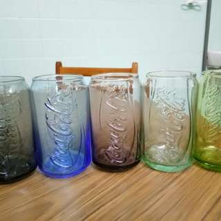 Coca Cola Glass Full set 5 colours