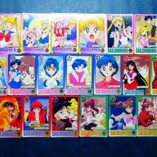 懷舊日本收藏卡 - 港版 美少女戰士 激鬥 6 - 白卡全套 38 張 , 沒有閃卡