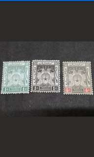 Malaya 1910 Kelantan Arms Loose Set Up To 4c - 3v MH Malaya Stamps