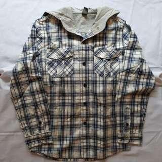 ZARA Kids woven shirt w/hood (size 7-8)