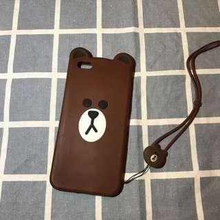 iPhone6/6s Plus LINE熊大機殻(連埋頸繩)