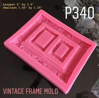 Vintage Frame Silicone Mold