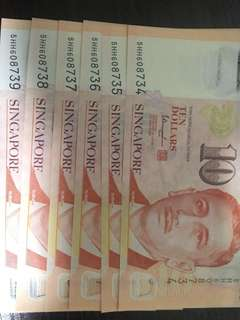 Running numbers banknotes
