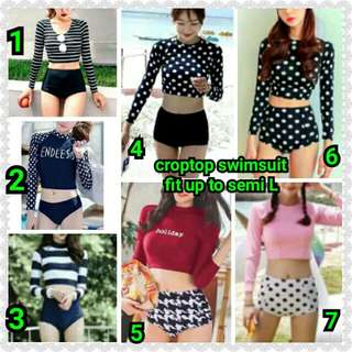 croptop swimsuit fit up to semi L Retail 290 Reseller 270