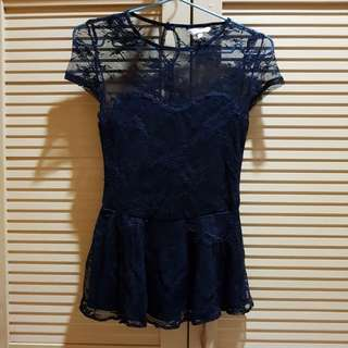 Blouse Peplum Lace New Look
