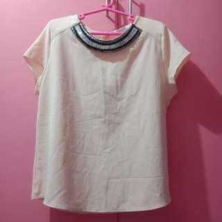 Formal Peach blouse