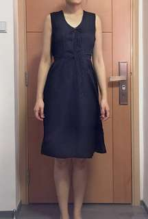 +-x÷ 黑色 背心 連身裙