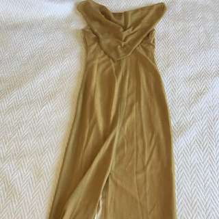Long gold Vittorio evening gown
