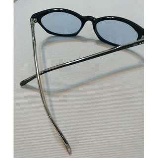 🚚 STUSSY黑鑲銀框淺藍鏡片眼鏡