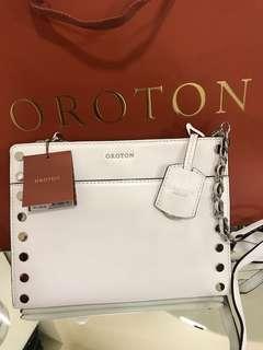 Oroton WHITE SLING BAG *ORIGINAL*