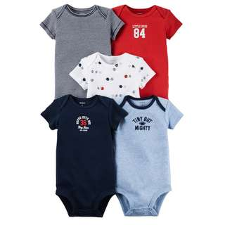 BN 24m Carters 5pcs set bodysuits Balls