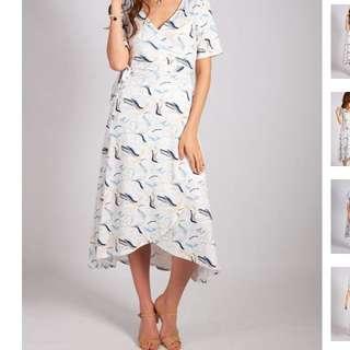 Nursing Maternity Wrap dress