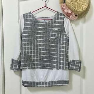 🚚 原價1380✨率性格紋設計上衣❤️