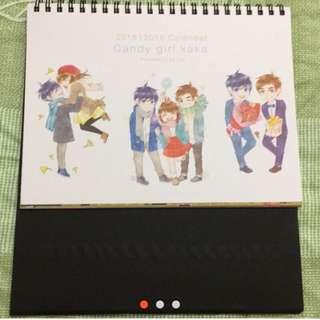 🚚 長鴻 蝦米Candy girls kaka桌曆