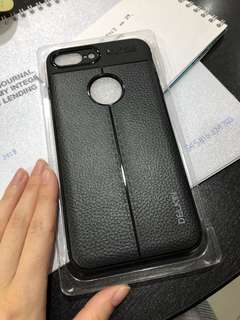 Case iphone 7plus 8plus black leather