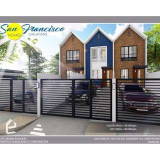 Townhouse for sale in Marikina San Francisco Dream Homes near SSS Village