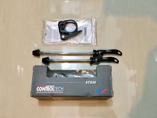 Controltech Stem, Skewers, Clamp