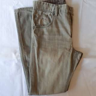 H&M denim pants (size 12-13/skinny fit/light gray)