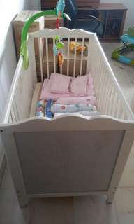 Ikea Baby Cot - good condition. Not for fuzzy buyers. Well used
