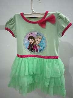 Frozen green dress