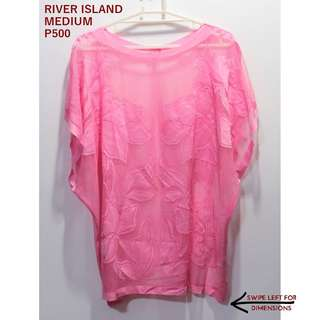River Island Pink Sheer Coverup