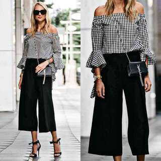 CHECKERED TOP WITH PANTS
