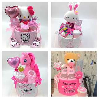 Baby Diaper Cake for Girls - Promotion for the month of April