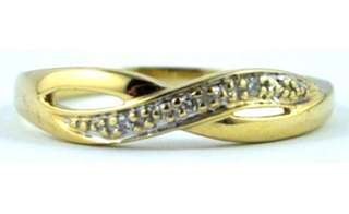 9 carat Gold and Diamond Ring