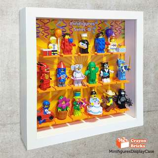 LEGO 71021 Series 18 Minifigures Acrylic Display Solution (IKEA Ribba Frame not included)