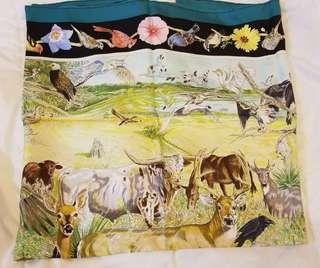 Hermes silk scarf 90x90