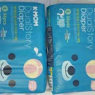 K-MOM dual story diaper L size