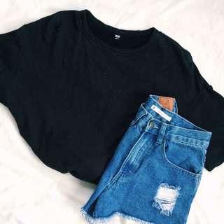 Uniqlo Black Boxy Shirt