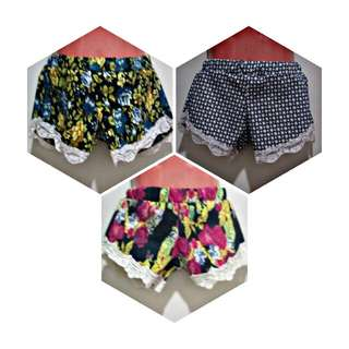 3 Girl's Shorts Fit 2-4 yrs old