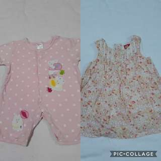 Slightly used onsie and mossimo dress