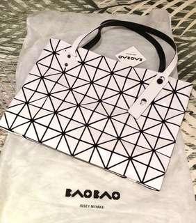 Issey Miyake Bao Bao white handbag