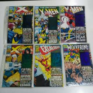 (set of 6/ original/ 1993) Marvel Comics Anniversary Edition